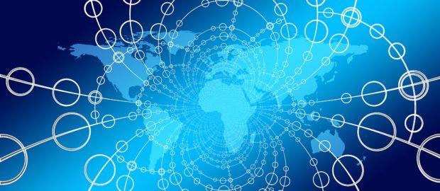Quadro globale delle competenze 2019. Immagine stilizzata in cui si vedono tutte le nazioni della Terra connesse tra loro.