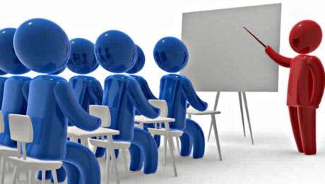 investimenti in formazione - omini blu