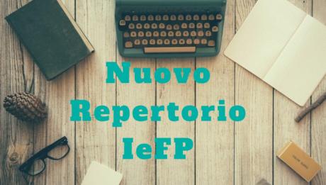 nuovo repertorio IeFP. Immagine con macchina da scrivere