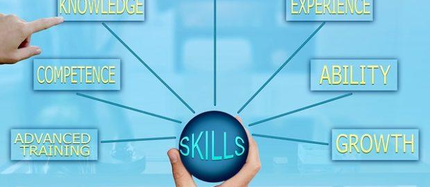 nuove competenze di base. Immagine con schema delle competenze